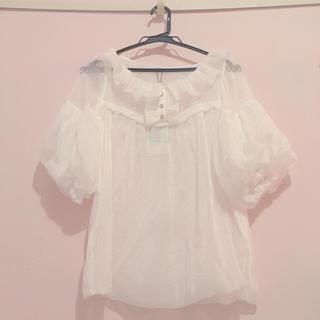 Angelic Pretty - ホワイトブラウス シャツ 半袖