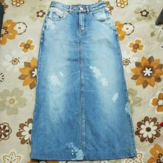 DOUBLE STANDARD CLOTHING - DOUBLE STANDARD CLOTHING デニムロングスカート M