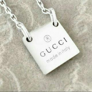 Gucci - GUCCI スクエアタグ ネックレス