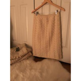 ロキエ(Lochie)のニットスカート (ひざ丈スカート)