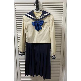 福岡県 博多女子高校 旧冬服上下 リボン 3点