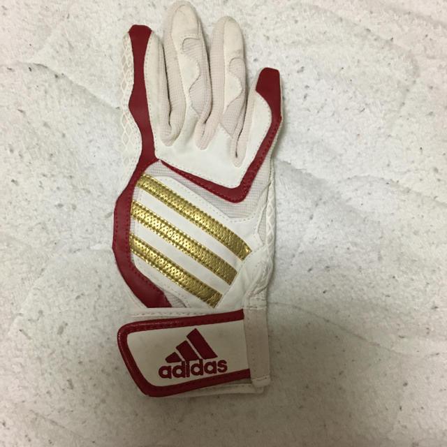 adidas(アディダス)の子ども用バッティング手袋左利き用 スポーツ/アウトドアの野球(グローブ)の商品写真