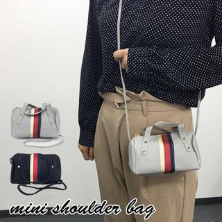 レディース mini☆ショルダーバッグ トレンドバッグ 斜め掛け グレー 新品(ショルダーバッグ)