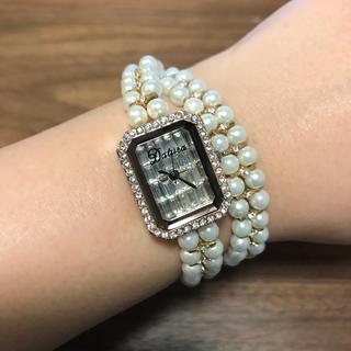 ダチュラ(DaTuRa)のDaTuRaパールブレスバブリーウォッチ(腕時計)
