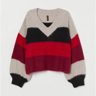 H&M - 新品タグ付き H&M 今季新作 ボリュームスリーブセーター M  ZARA ザラ
