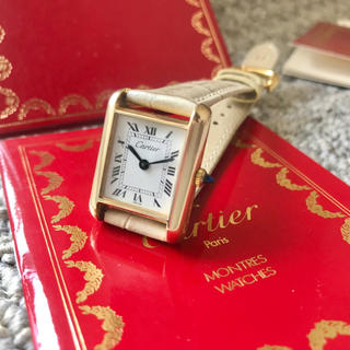 Cartier - 美品✨カルティエ Cartier ミニマストタンク 手巻き腕時計 レディース