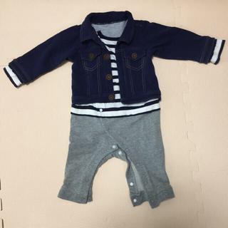 エフオーキッズ(F.O.KIDS)のロンパース ベビー服 シャツ風  F.Oインターナショナル(ロンパース)