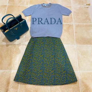 プラダ(PRADA)のプラダ バージンウール100%のスカート(ひざ丈スカート)