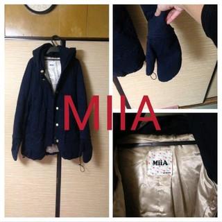 MIIA - MIIA手袋付きニット ネイビー ミトン付き 完売アイテム