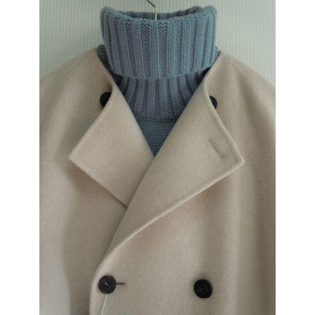 TOMORROWLAND(トゥモローランド)のギャルリーヴィーGALERIE VIE¥83600ダブルフェイスノーカラーコート レディースのジャケット/アウター(その他)の商品写真