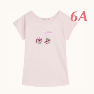 Bonpoint - Bonpoint 2020SS チェリーTシャツ 6A