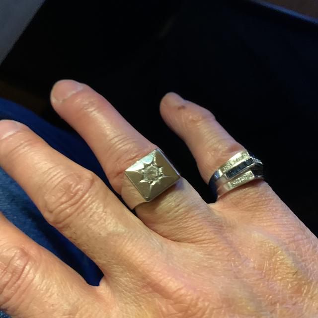 pt900  印台ダイヤモンドリング メンズのアクセサリー(リング(指輪))の商品写真