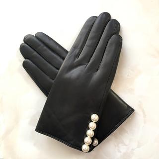バーニーズニューヨーク(BARNEYS NEW YORK)のグローブ 手袋 レディース パール ヨーコチャン(手袋)
