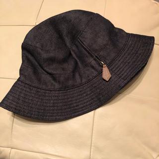 エルメス(Hermes)のエルメス 帽子 デニム クロッシェ リネン インディゴ レディース ハット(ハット)