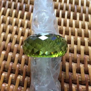 ガラス指輪 グリーン 内寸直径1.7cm(リング(指輪))