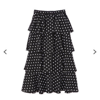 プロポーションボディドレッシング(PROPORTION BODY DRESSING)のドットプリントティアードスカート(ロングスカート)