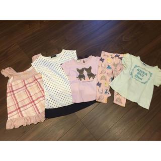 エニィファム(anyFAM)のまとめ買い☆ワンピース・Tシャツ・スパッツ  サイズ90(Tシャツ/カットソー)