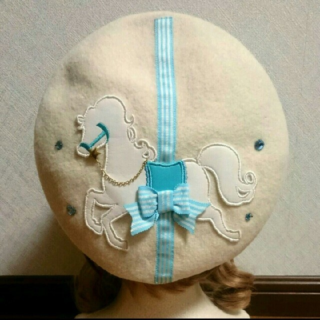 Angelic Pretty(アンジェリックプリティー)のPretty♪Ponyベレー帽 レディースの帽子(ハンチング/ベレー帽)の商品写真