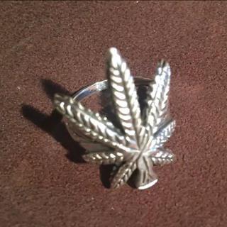 マリファナ シルバー925 リング  19号 大麻 ギフト 銀 指輪 ピース(リング(指輪))