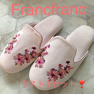 Francfranc - 再入荷❣️Francfranc花柄ルームシューズ 新品❣️