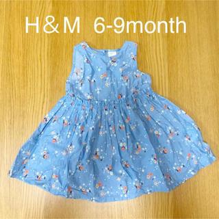 H&M - 【美品】H&M ベビー ワンピース 6-9month 70cm