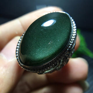 【天然】グリーン ガーデン クォーツ リング s925 (リング(指輪))