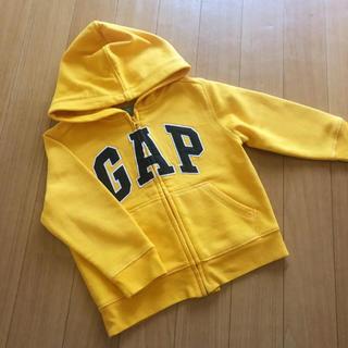 babyGAP - GAP オレンジ 裏起毛 パーカー