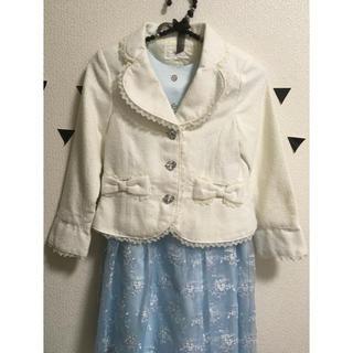 エニィファム(anyFAM)の▶︎◀︎新品130cm anyfam 女の子 スーツ 入学式 白▶︎◀︎(ドレス/フォーマル)