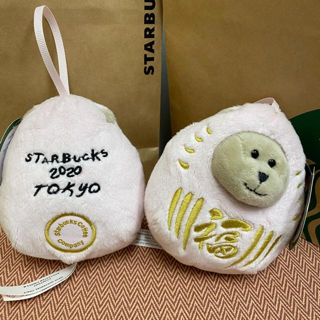 Starbucks Coffee(スターバックスコーヒー)のスターバックス ピンクミニべアリスタ エンタメ/ホビーのおもちゃ/ぬいぐるみ(ぬいぐるみ)の商品写真