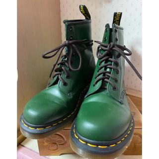 ドクターマーチン(Dr.Martens)のドクターマーチン☆8ホール☆グリーン22.5(ブーツ)