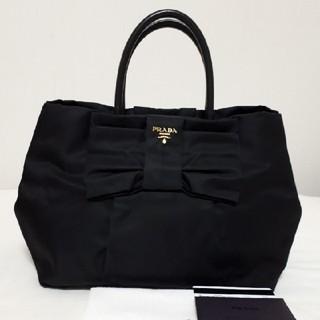 PRADA - プラダ リボンモチーフ ハンドバッグ