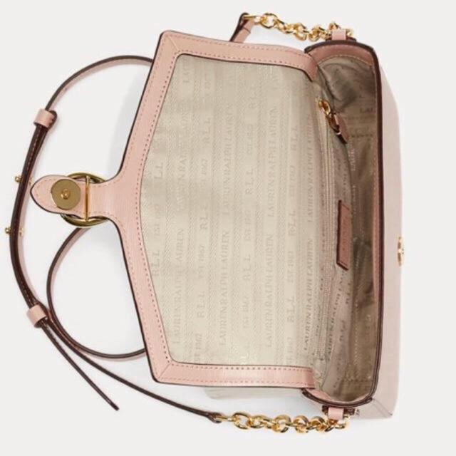POLO RALPH LAUREN(ポロラルフローレン)の【新品未使用】ラルフローレン クロスボディ ショルダーバッグ ピンクベージュ レディースのバッグ(ショルダーバッグ)の商品写真