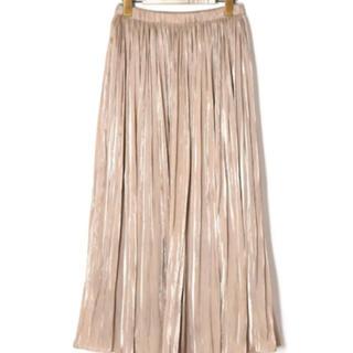 ダブルクローゼット(w closet)の消しプリーツシャイニーサテン×チュールリバーシブルスカート(ロングスカート)