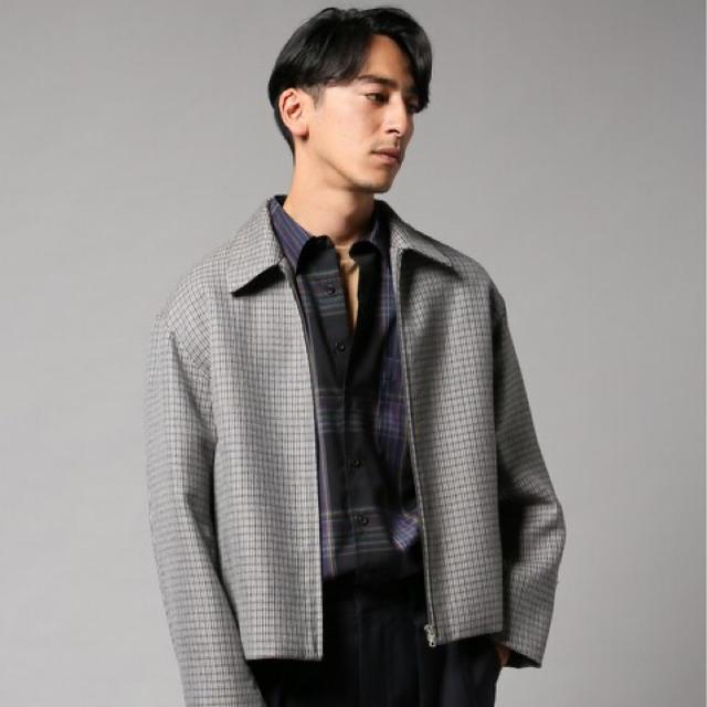 新品 オーラリー  ダブルフェイスチェックジップブルゾン 5 メンズのジャケット/アウター(ブルゾン)の商品写真