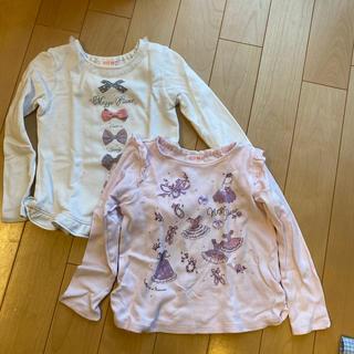 メゾピアノ(mezzo piano)のメゾピアノ 長袖シャツ 120cm(Tシャツ/カットソー)