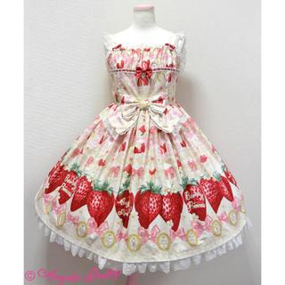 アンジェリックプリティー(Angelic Pretty)のMelty Berry Princessジャンパースカート カチューシャ(ひざ丈スカート)