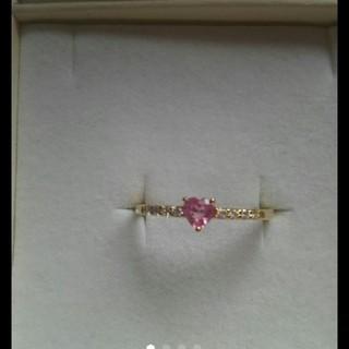 ピンクサファイア  ハーフエタニティリング(リング(指輪))