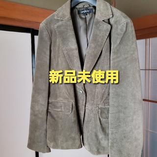 濃いグリーンのテーラードジャケット(テーラードジャケット)