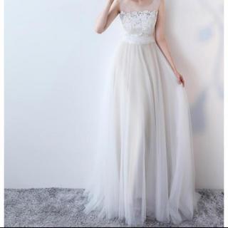 ウエディングドレス チュール