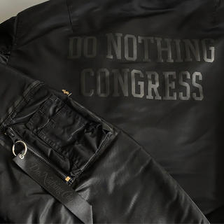 FRAGMENT - Do Nothing Congress ALPHA 黒 L MA-1 XL