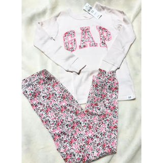babyGAP - 新品 babyGAP 女の子 長袖 ピンク パジャマ 100cm 綿100%