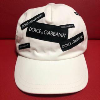 DOLCE&GABBANA - DOLCE&GABBANA ホワイト ロゴキャップ (L)