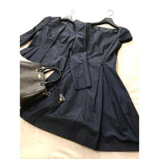 ANAYI - 美品 ANAYI セットアップ ネイビー ワンピース ジャケット スーツ 卒業
