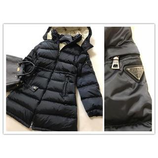 プラダ(PRADA)の美品 PRADA ダウン コート 黒 ブラック プラダ(ダウンコート)