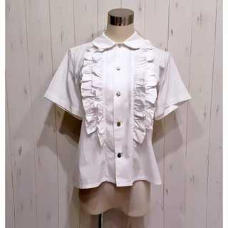 COMME des GARCONS - 美品 ブラック コムデギャルソン 丸襟 フリル シャツ