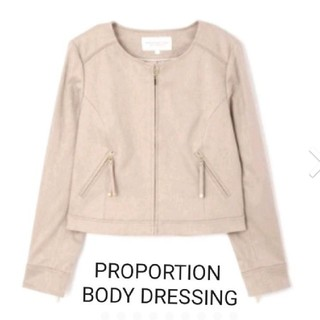 PROPORTION BODY DRESSING - プロポーション ノーカラーブルゾン