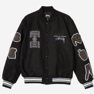 STUSSY x CDG Varsity Jacket  Black XL