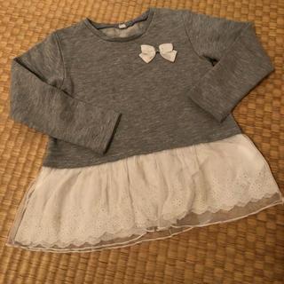 イオン(AEON)の裾レース 切替トレーナー(Tシャツ/カットソー)