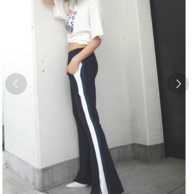 GYDA(ジェイダ)のmii様専用 サイドラインフレアパンツ レディースのパンツ(カジュアルパンツ)の商品写真
