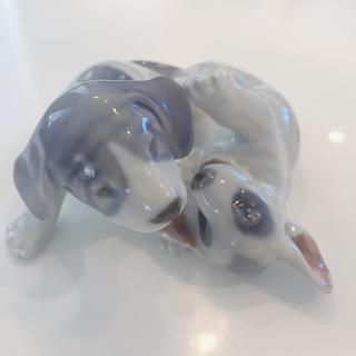 ロイヤルコペンハーゲン(ROYAL COPENHAGEN)のロイヤルコペンハーゲン 置き物 犬 イヌ 2000年(置物)